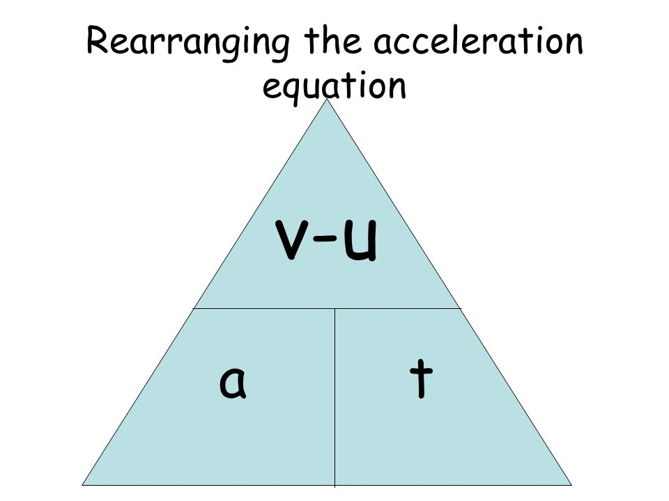 Rearranging the acceleration equation