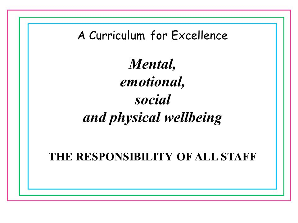 THE RESPONSIBILITY OF ALL STAFF