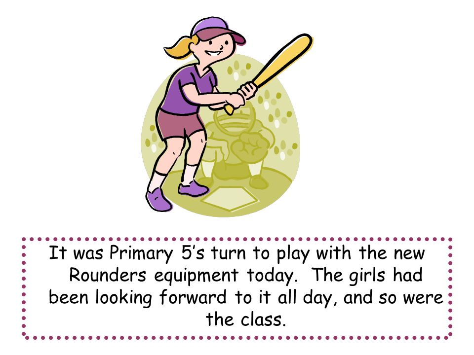 It was Primary 5's turn to play with the new Rounders equipment today