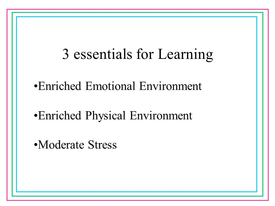3 essentials for Learning