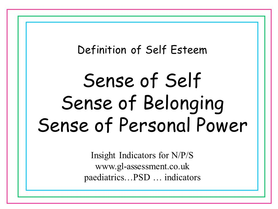 Sense of Personal Power