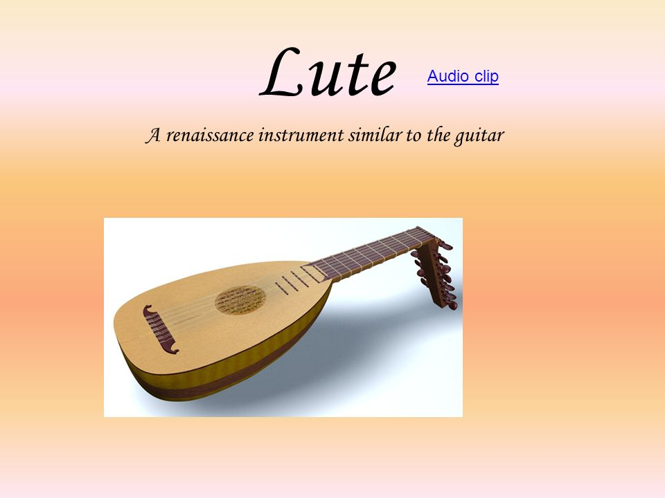A renaissance instrument similar to the guitar