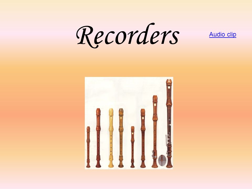 Recorders Audio clip