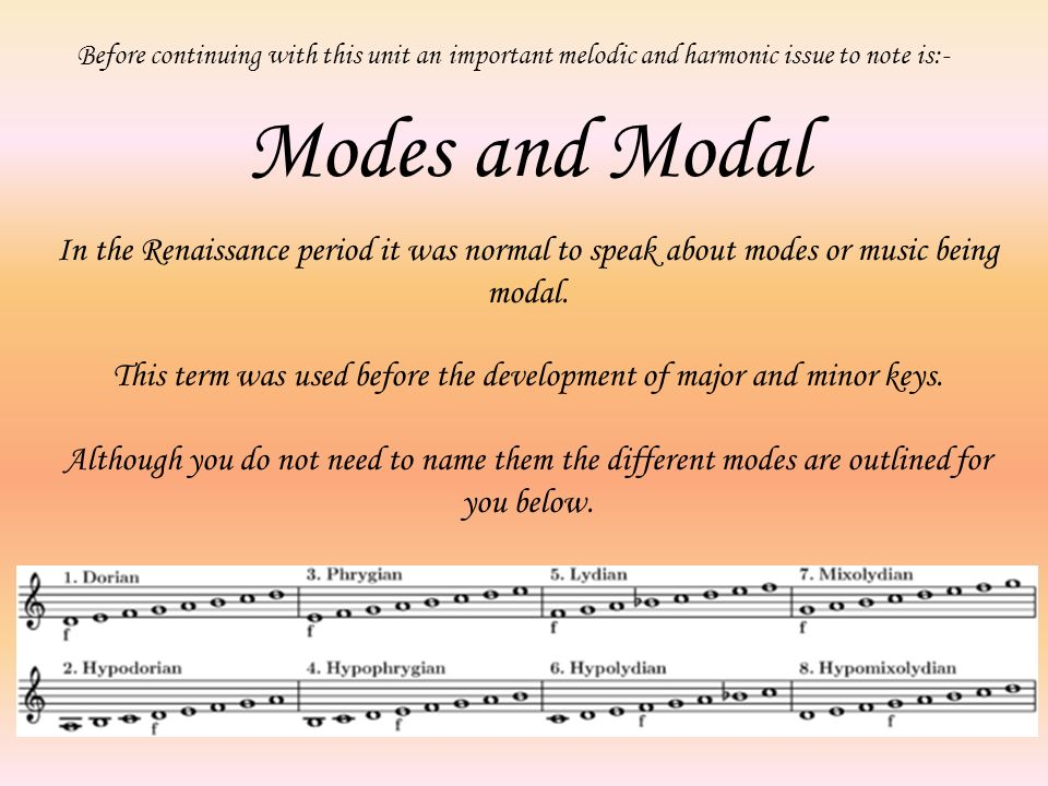 This term was used before the development of major and minor keys.