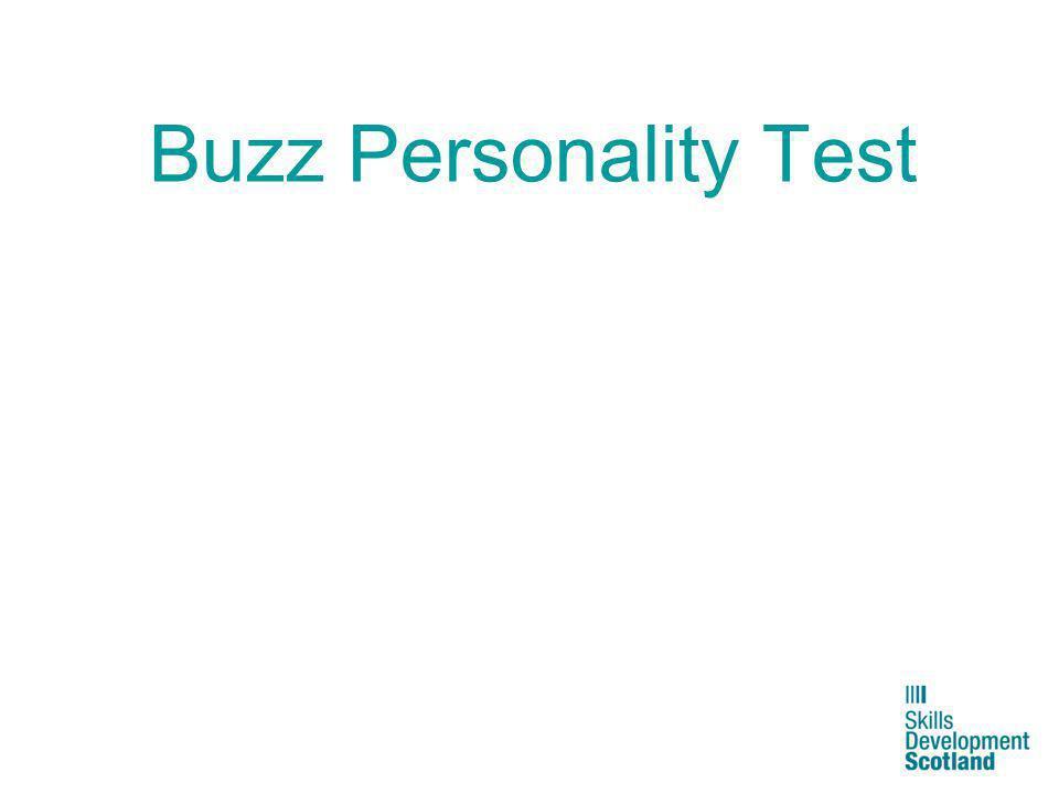 Buzz Personality Test