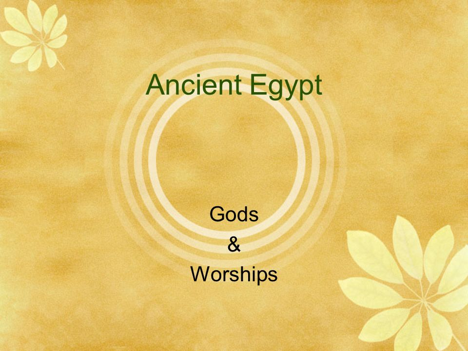 Ancient Egypt Gods & Worships