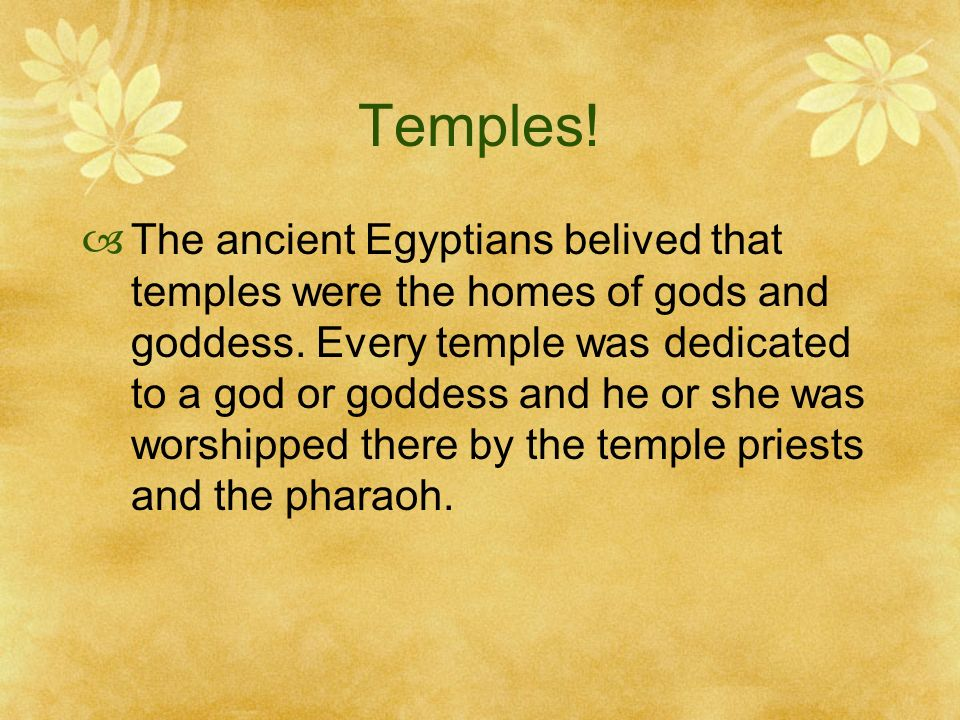 Temples!