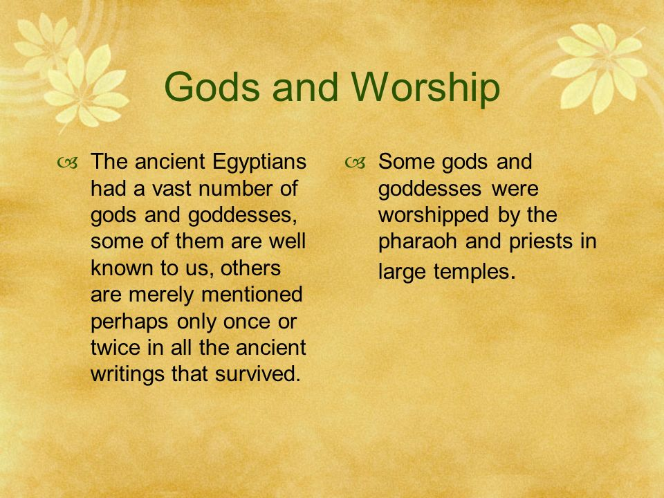 Gods and Worship