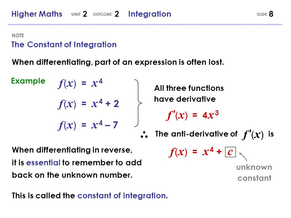 UNIT OUTCOME SLIDE NOTE
