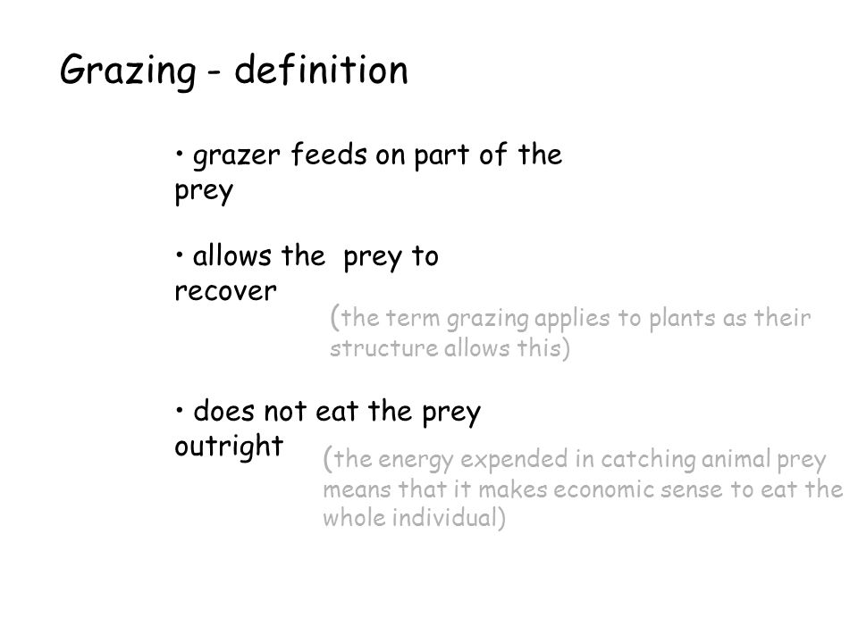 Grazing - definition grazer feeds on part of the prey