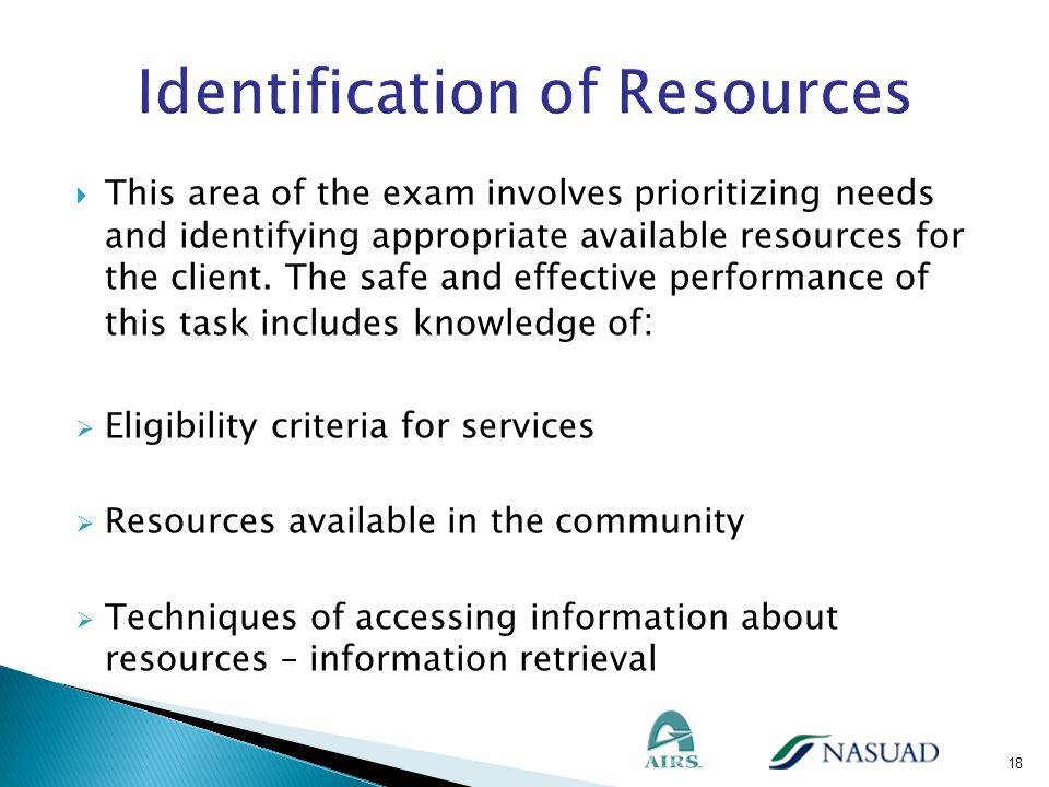 Identification of Resources