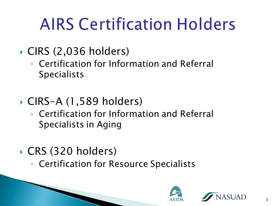 AIRS Certification Holders
