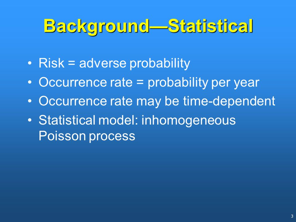 Background—Statistical