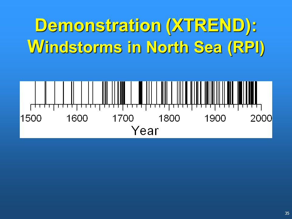 Demonstration (XTREND): Windstorms in North Sea (RPI)
