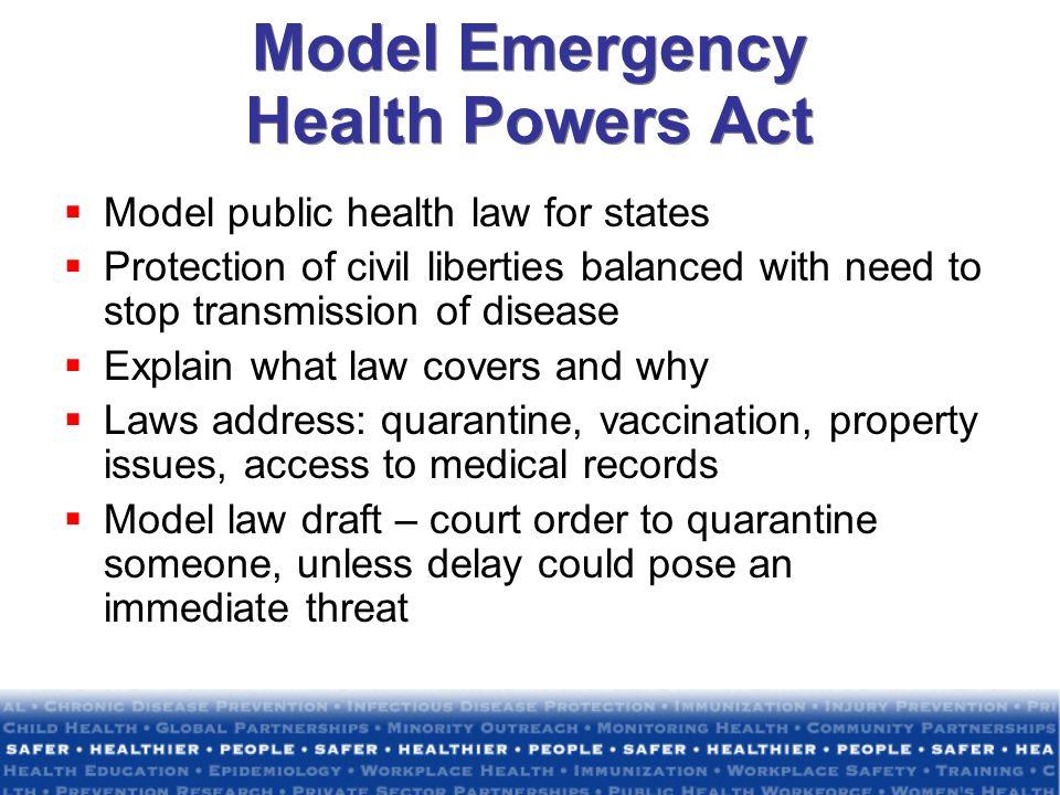 Model Emergency Health Powers Act
