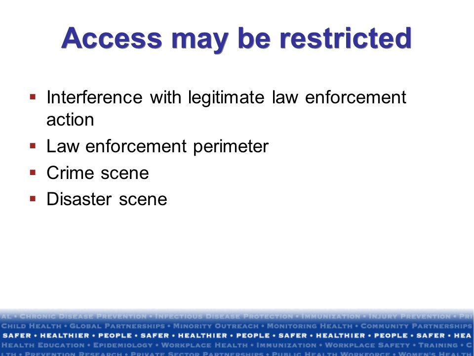 Access may be restricted