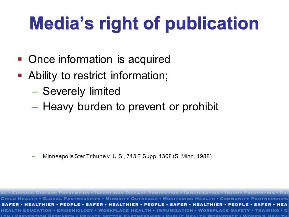 Media's right of publication