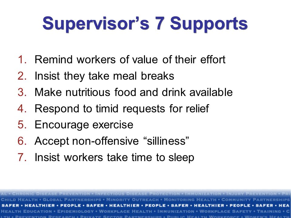 Supervisor's 7 Supports