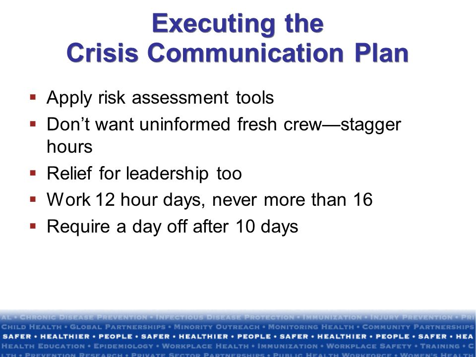Executing the Crisis Communication Plan