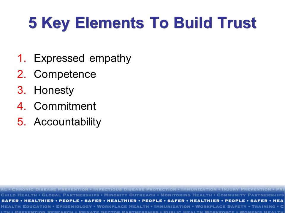 5 Key Elements To Build Trust
