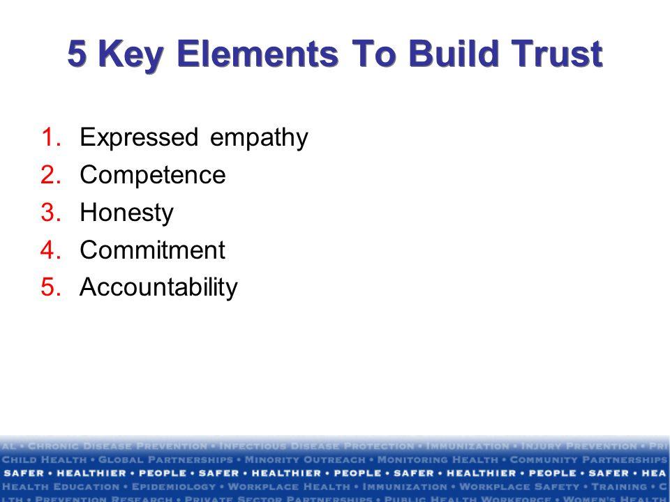 5 Key Elements To Build Trust