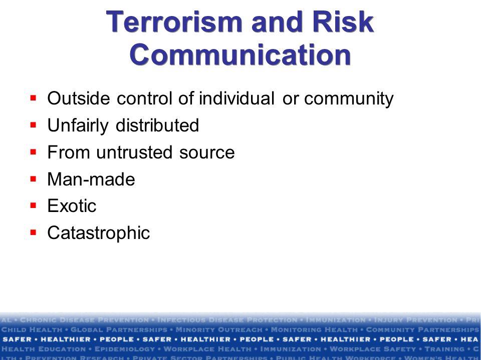 Terrorism and Risk Communication