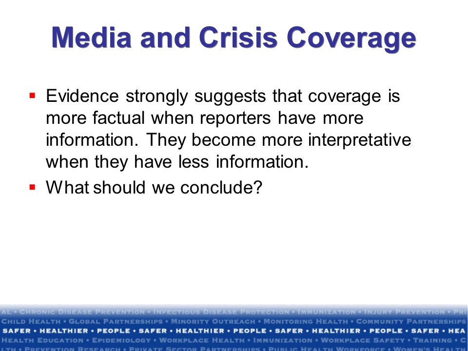 Media and Crisis Coverage