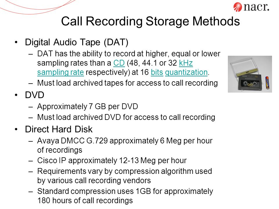 Call Recording Storage Methods