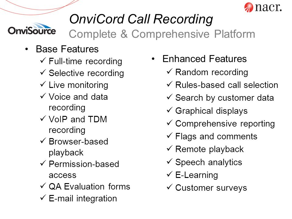 OnviCord Call Recording Complete & Comprehensive Platform