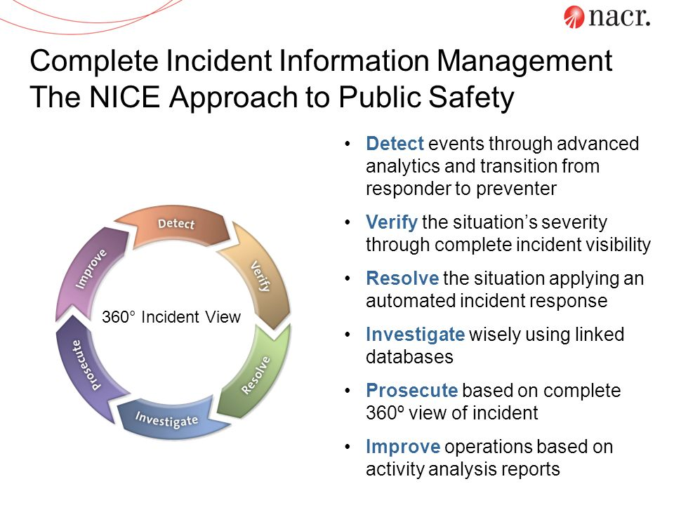 Complete Incident Information Management The NICE Approach to Public Safety