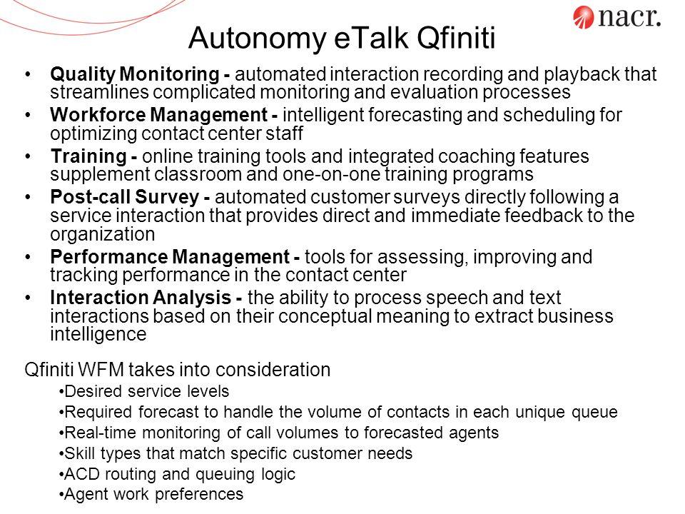 Autonomy eTalk Qfiniti