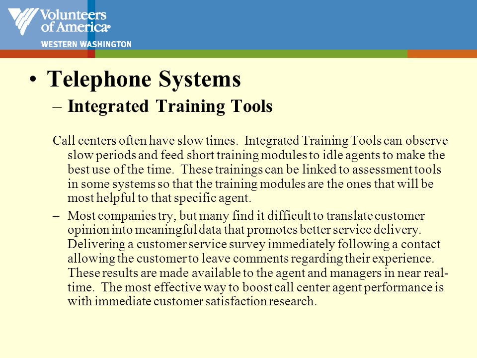 Telephone Systems Integrated Training Tools