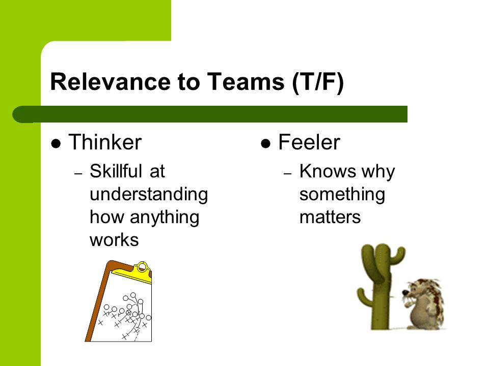 Relevance to Teams (T/F)