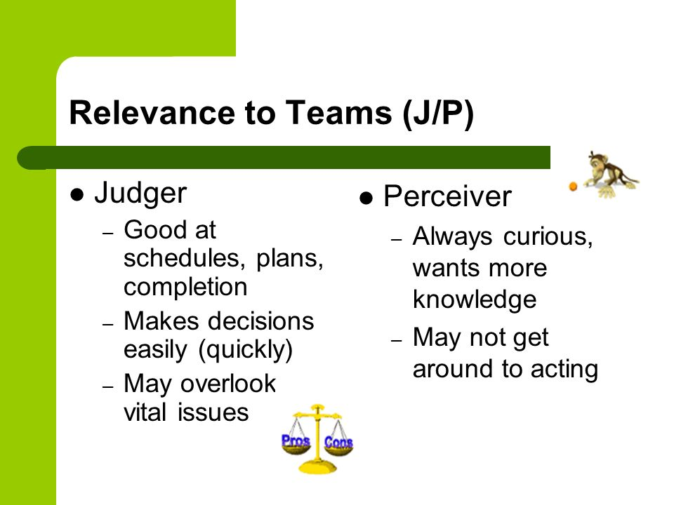 Relevance to Teams (J/P)