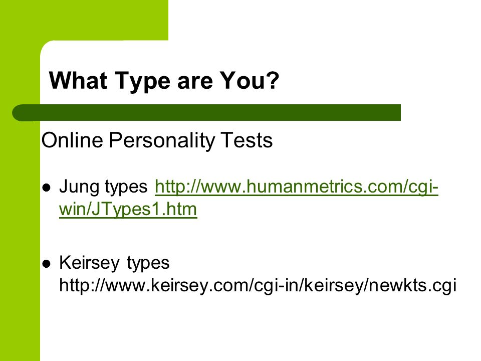What Type are You Online Personality Tests