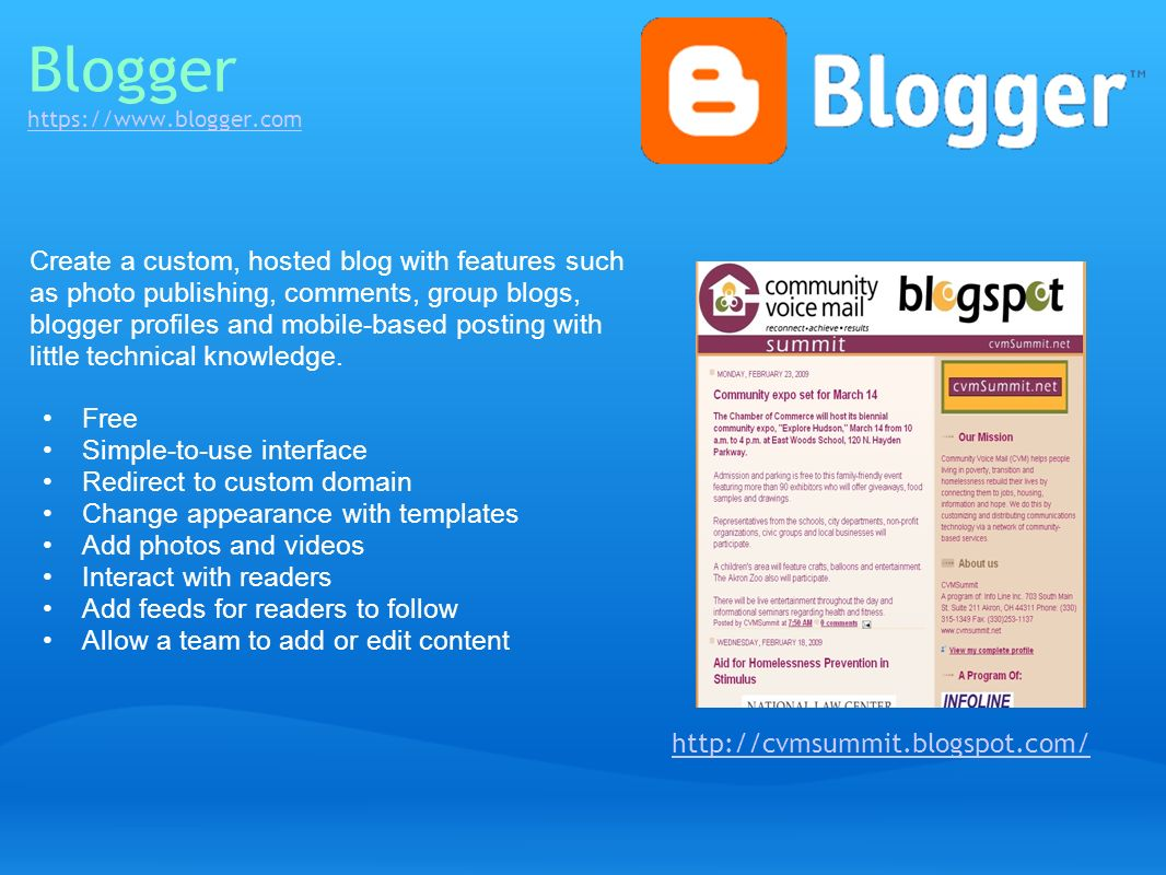 Blogger https://www.blogger.com
