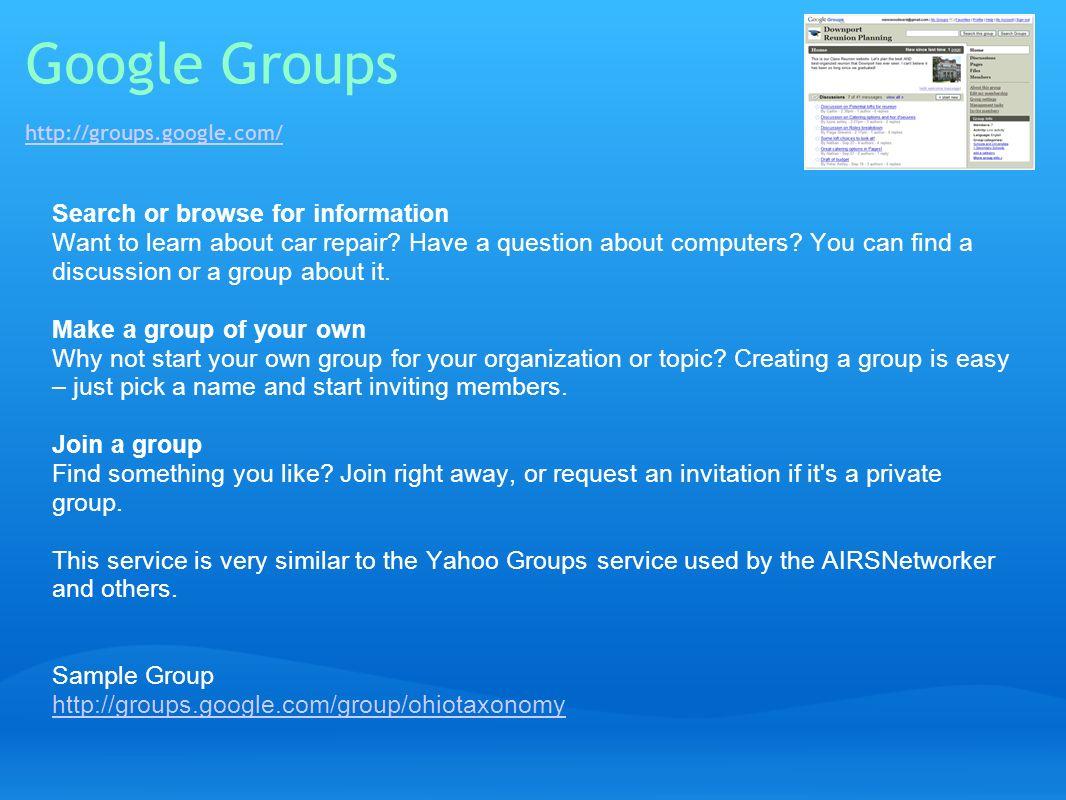 Google Groups http://groups.google.com/
