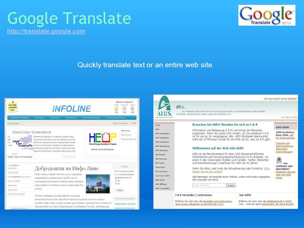 Google Translate http://translate.google.com