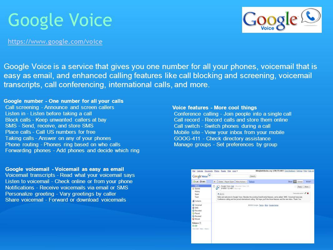 Google Voice https://www.google.com/voice