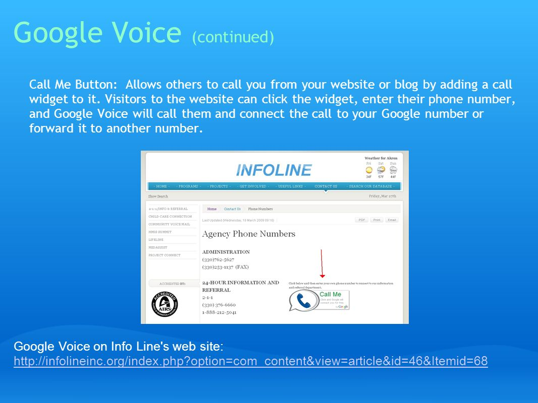 Google Voice (continued)