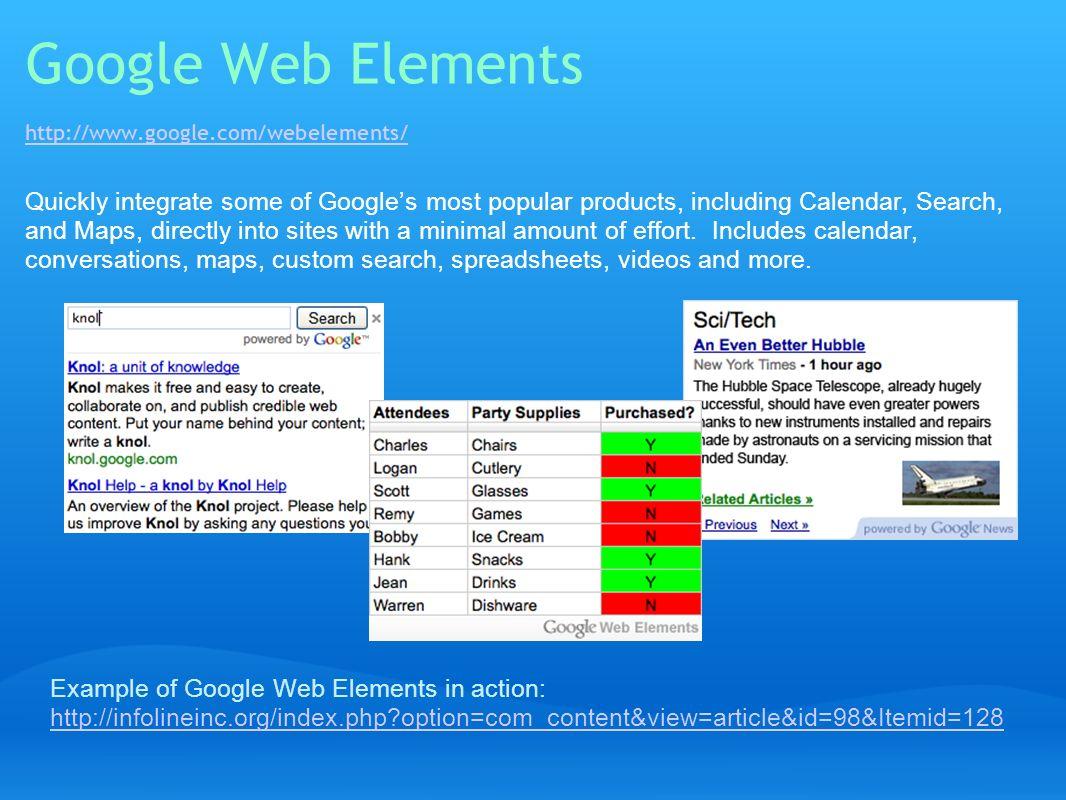 Google Web Elements http://www.google.com/webelements/
