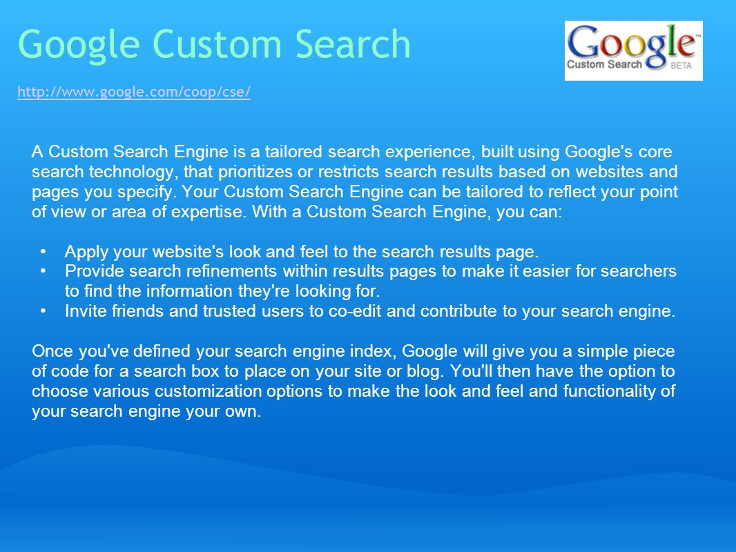 Google Custom Search http://www.google.com/coop/cse/