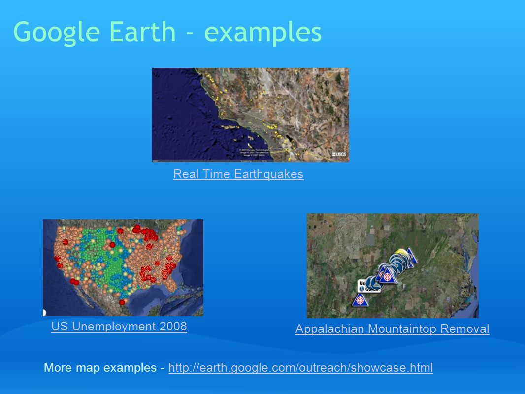 Google Earth - examples