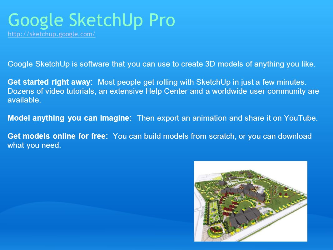 Google SketchUp Pro http://sketchup.google.com/