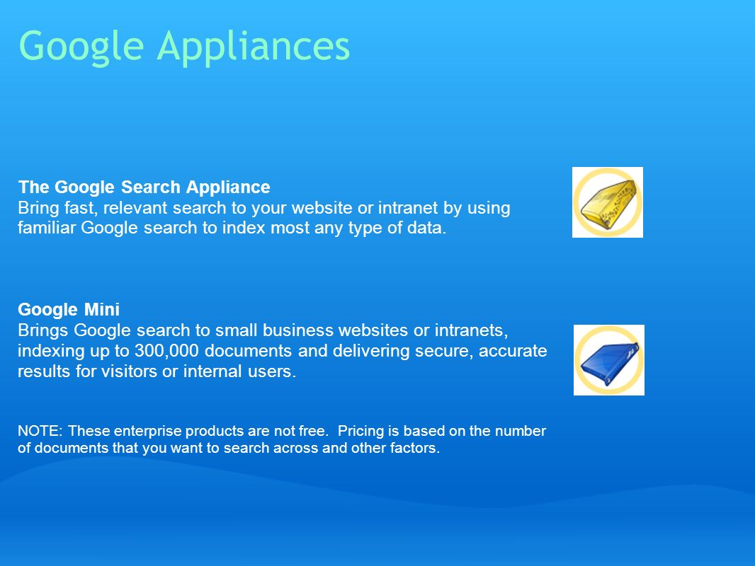 Google Appliances