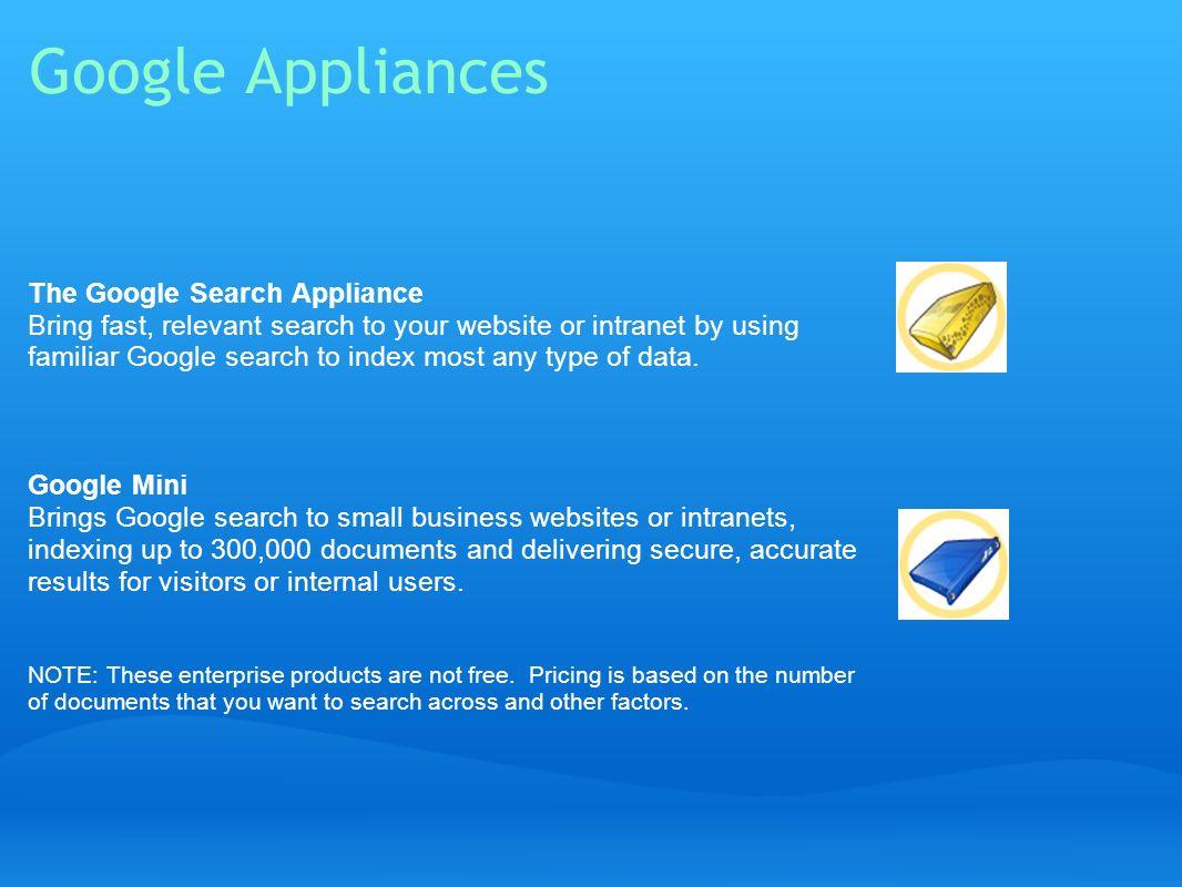 Google Appliances
