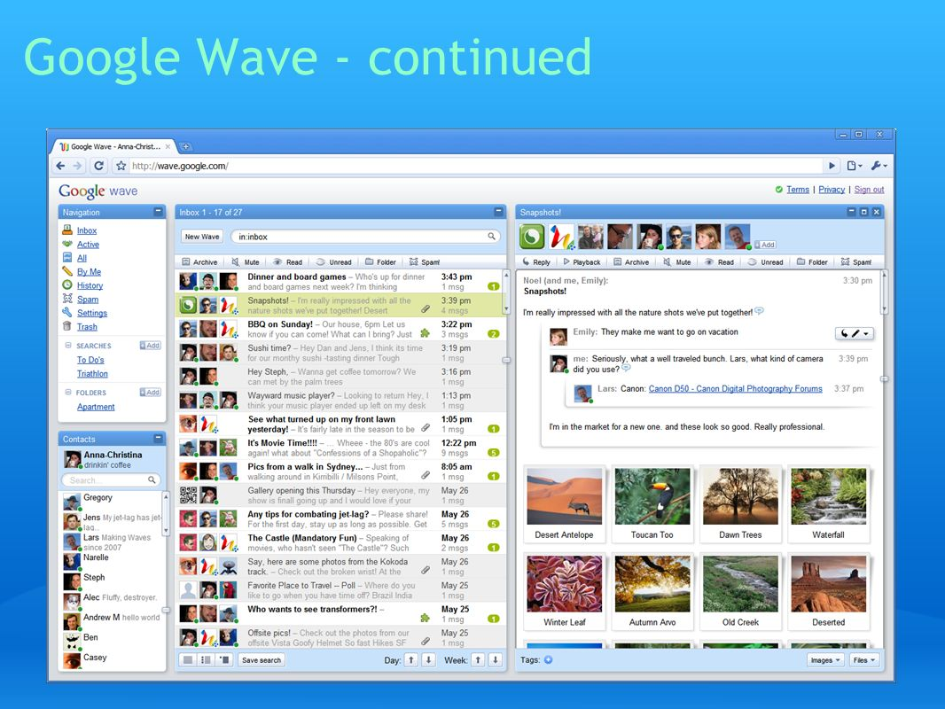 Google Wave - continued