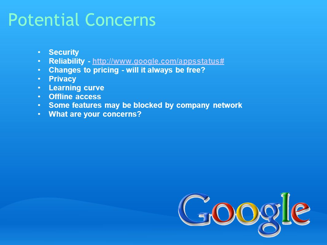 Potential Concerns Security