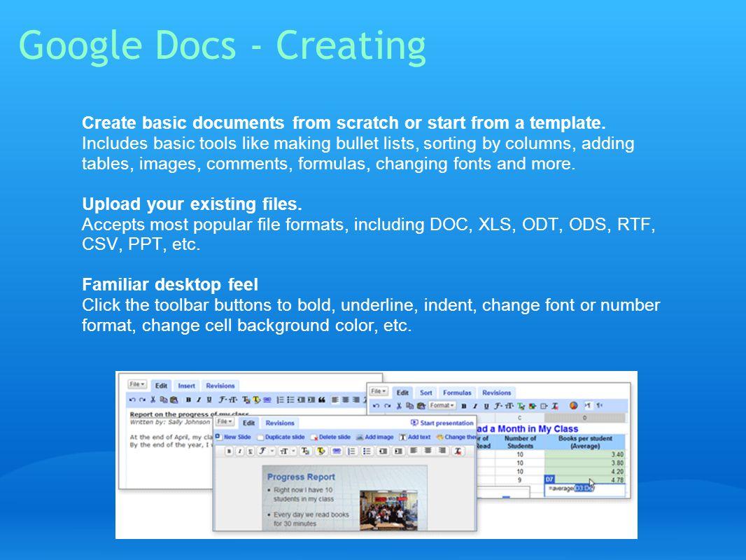Google Docs - Creating