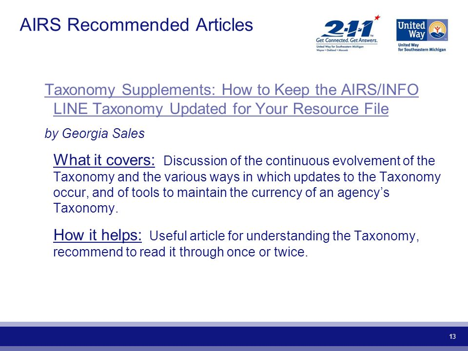 AIRS Recommended Articles
